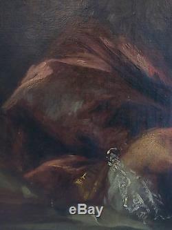 Huile sur toile XIXè. Portrait de NOBLE du XVIIIè. Grand Dauphin