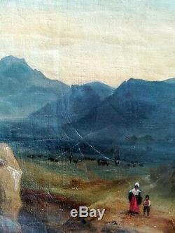 Huile sur toile XIXème 45x37cm