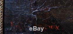 Huile sur toile ancienne signée eugène delacroix romantisme classique XIX