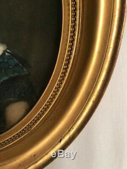 Huile sur toile, école XIXe. Portrait denfant