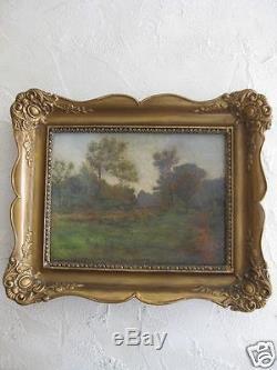 Huile sur toile paysage impressionniste 19e trace de monogramme EB eugene boudin