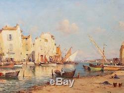 Huile sur toile port de Martigues Vincent Manago