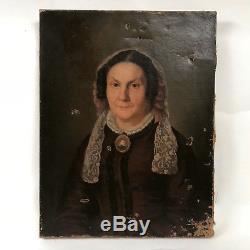 Huile sur toile portrait de femme