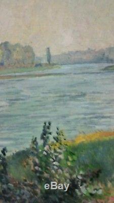 Huile sur toile signé par Auguste Cammissar peintre Alsacien