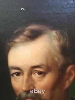 Huile/toile Portrait D Homme Signé Philippe Lattard Daté 1898