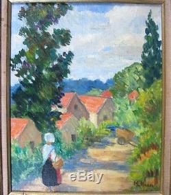 Intéressante Huile sur toile signée de Marie-Lucie Nessi