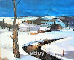 JEAN- CLAUDE BOURGEOIS. (1932-2011). Huile sur toile Paysage de neige. V1105