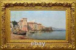 JOURDAN Ferdinand (1851-1909)Quartier à Saint-Tropez, 1892 Var Provence Toulon
