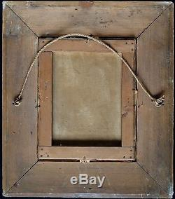 J B GREUZE (1725-1805)JEUNE SERVANTE MELANCOLIQUE HUILE S/ T XIXe BEAU CADRE