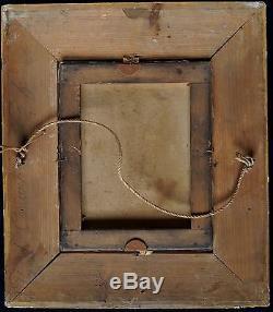 J B GREUZE (1725-1805)LA JEUNE FILLE ROMANTIQUE HUILE S/ T XIXe BEAU CADRE