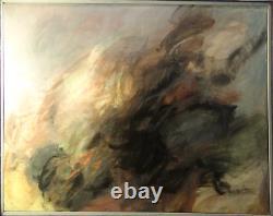 Jacques Chantarel 1924-2011, tableau huile sur toile, Abstraction Lyrique Circa