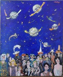 Jean Pierre LAGRUE huile/toile Le Carnaval de l'Univers