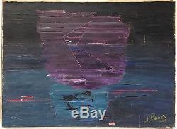 Jean Pons Huile sur toile signée art abstrait abstraction lyrique école de Paris