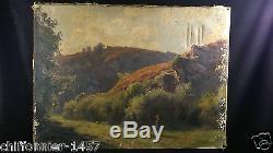 Jean Teilliet 1870-1931 Postimpressionniste Limousin huile sur toile a restaurer