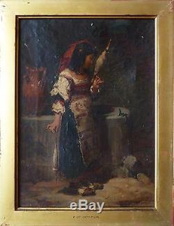 Jeune fille italienne Peinture de Pierre De Coninck (1828-1910)