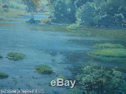 Jolie ancienne huile sur toile, Robert BOUROULT, peintre pontissalien, Nancy