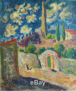 José Mange(1866-1935). Huile sur toile. V878