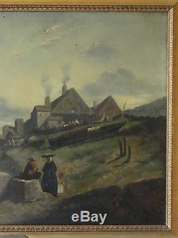 Jules Noel 1800/1881 Huile sur Toile Ecole Française Deuxième parti du XXème