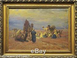 KAROLY CSERNA (1867-1944) CAIRO Huile sur toile orientaliste