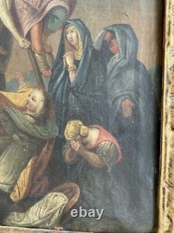 La descente de croix huile sur toile XVIII° siècle