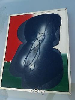 Ladislas KIJNO (1921-2012) Huile acrylique et glycéro sur toile