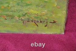 Le Berger. Huile Sur Toile école De Barbizon Fin XIXe. Signée. Art populaire