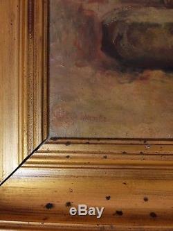 Léon Lhermitte tableau peinture huile sur toile XIXe naturalisme moissonneurs