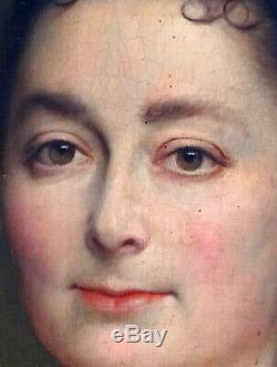 Louis Gailliac Grand Portrait de femme Huile sur toile fin XIXème siècle