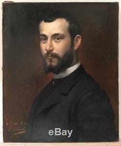 Louis Hierle (1856-1906), Portrait de M. Roux, huile sur toile, vers 1880