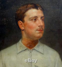 Louis Maistre Portrait Homme Epoque XXème siècle Huile sur toile Ecole Française