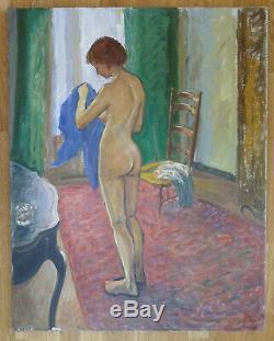 Louis PEYRÉ (1923-2012) HsT 1976 Nu / Fauvisme Jeune Peinture Nle Ecole de Paris