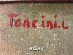 Louis TONCINI 1907/2002 Marseille Huile sur Toile vers 1930/1940