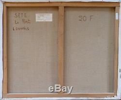 Louise BONFILS (1913-2010) HsT Port de Sète Années 80 Fauvist Fauvisme Fauviste