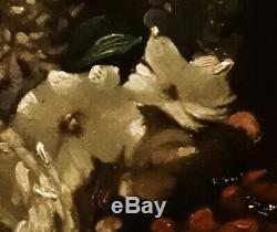 Louise Darru Bouquet de fleurs 1866 huile sur toile dim 41x33cm