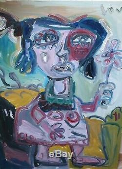Loulé thierry, art moderne, contemporain, international, Femme a fleur, Paris