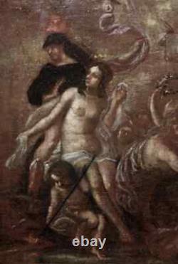 MAGNIFIQUE UVRE MYTHOLOGIQUE XVIIe. LES AMOURS D'APHRODITE OU DE VÉNUS