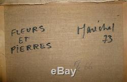 Maréchal Claude huile sur toile signée 1973 art abstrait abstraction Saint Cloud