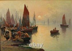 Marie LEFEVRE (1840-) retour de pêche à Concarneau /BRETAGNE