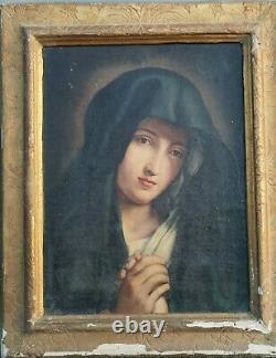 Mater dolorossa h/t vierge en prière XVIIe