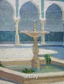 Mathilde Arbey Tableau Patio Villa Abd El Tif Alger Orientalisme Algerie Peintre