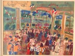 Maurice EMPI (1933) Guinguette Bal chez Gégène II Joinville le Pont Huile Toile