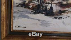 Michel Jouenne. Paysage de neige Huile sur toile 38 x 55