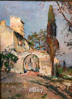 Montagne(montagné) Louis Agricol (1879-1960) Pigeonnier Huile/toile v121