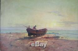 NATTERO Louis (1875-1915) Le pêcheur huile sur toile