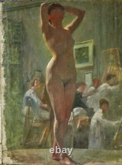 Nu Orientaliste Signé Suzanne Raphaelle LAGNEAU XIX
