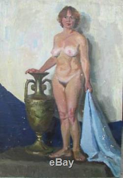 Nu Peinture ancienne originale 110-80 cm huile toile