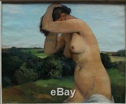 Nu de femme dans un paysage, Jean Joveneau (1888-)
