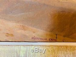 ORIENTALISTE Grand Format, Huile sur toile Le Chamelier datant fin XIX, signée