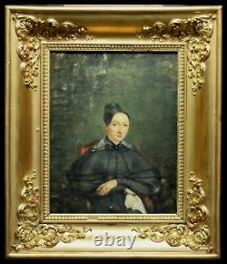 Old painting portrait bourgeois woman
