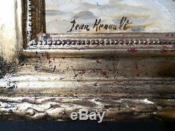 PARIS BORDS DE LA SEINE. Vue de Notre Dame. Huile s/TOILE. Signé Jean Henault